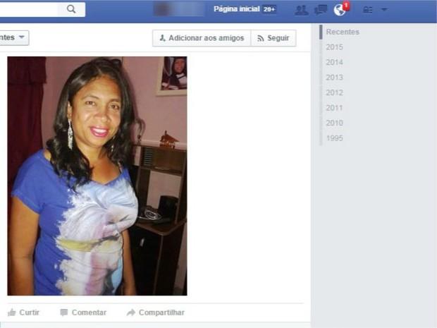 Maria Aparecida namorava há um ano e quatro meses (Foto: Reprodução / Facebook)
