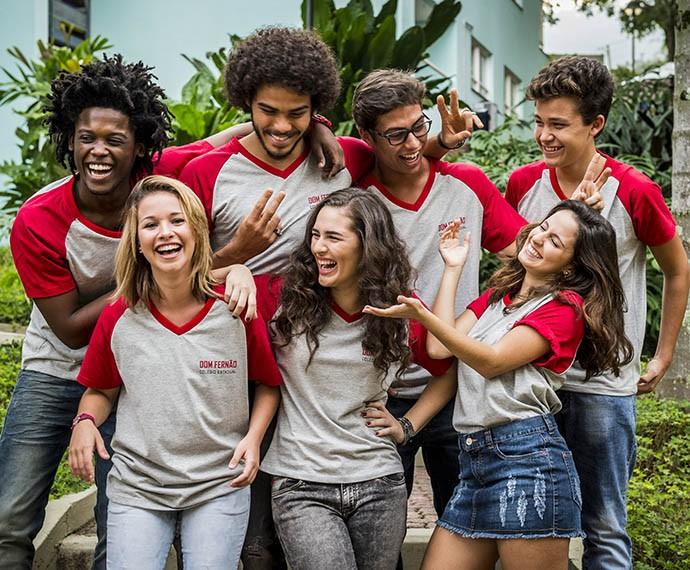 Colégo Dom Fernão é mais decadente do que o Leal Brazil (Foto: João Cotta/Gshow)
