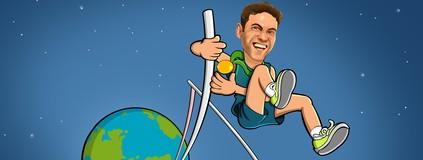 """Thiago Braz obtém recorde em salto e sobe ao """"topo do mundo"""" (Clayton Esteves)"""