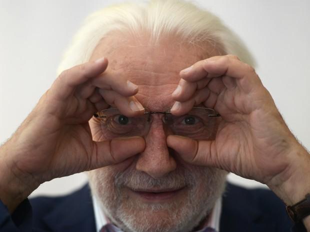 Lucien Clergue em foto de 20 de junho de 2013 (Foto: AFP Photo/Dominique Faget)