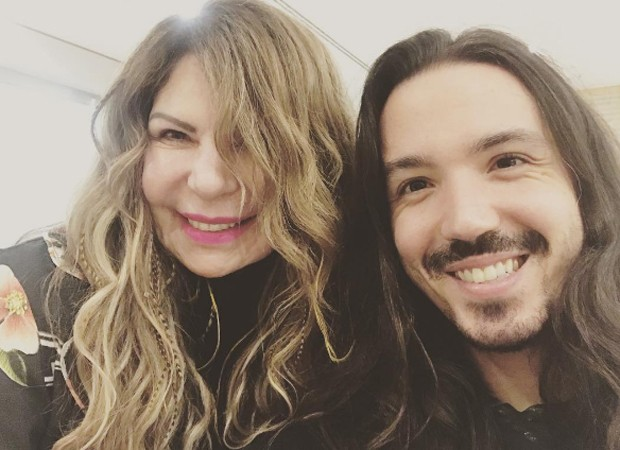 Elba Ramalho e o filho mais velho, Luã Mattar (Foto: Reprodução/Instagram)