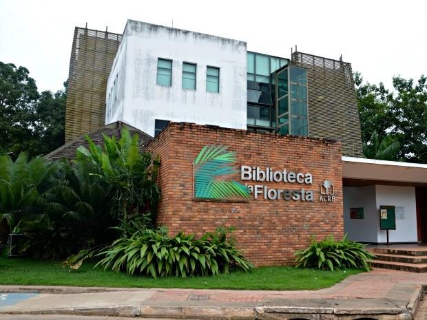 Biblioteca da Floresta, em Rio Branco  (Foto: Quésia Melo/G1)
