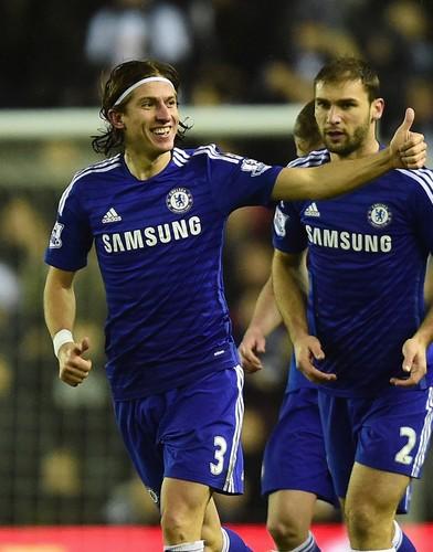 Filipe Luis Chelsea comemora gol (Foto: Getty)