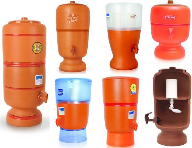 Modelo tradicional de filtro de cerâmica é fabricado desde 1947 e possui hoje versões com partes de plástico (Foto: Divulgação)