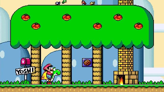 Super Mario World foi um dos maiores clássicos do Super Nintendo e nos introduziu ao dinossauro Yoshi (Foto: Reprodução/Continue Play)