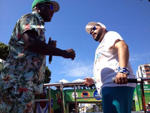 Tiago Abravanel; Carnaval; Salvador; Bahia; Márcio Victor (Foto: Henrique Mendes/G1)