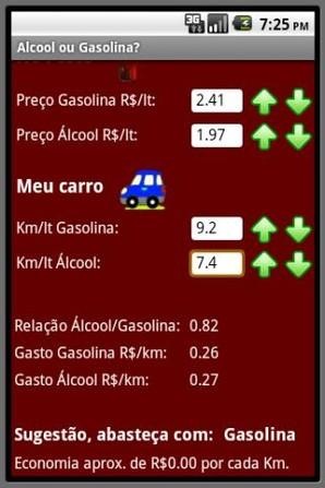 Álcool ou Gasolina?