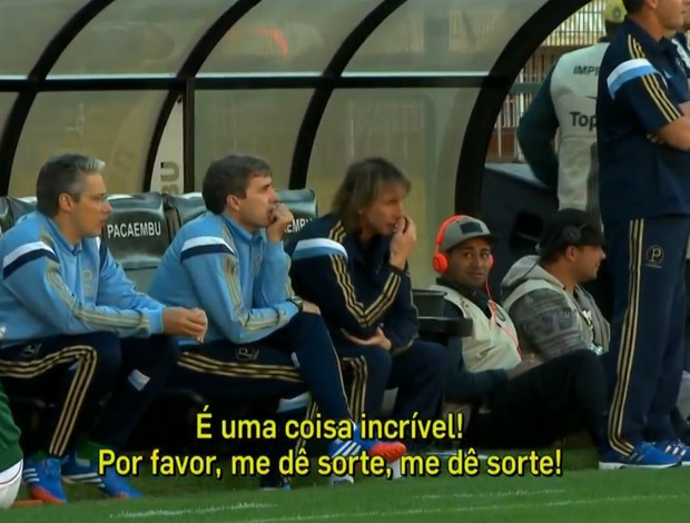 Ricardo Gareca Palmeiras Cruzeiro (Foto: Reprodução SporTV)
