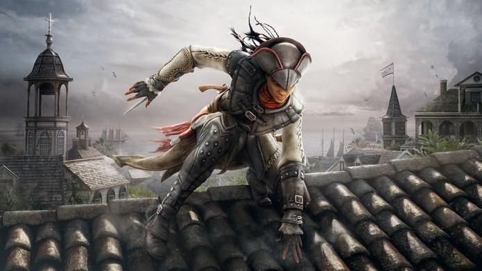 Assassins Creed 3: Liberation trouxe a primeira mulher da série (Foto: Divulgação/Ubisoft)