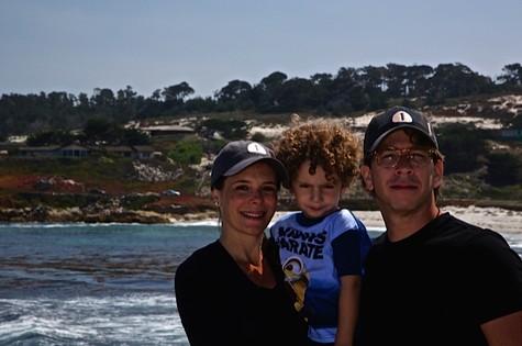Mylla e a família em Napa Valley (Foto: Arquivo pessoal)