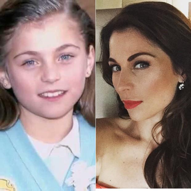 Ludwika Paleta, ainda criança quando ficou famosa por sua personagem em 'Carrossel' (Foto: Instagram e Reprodução)