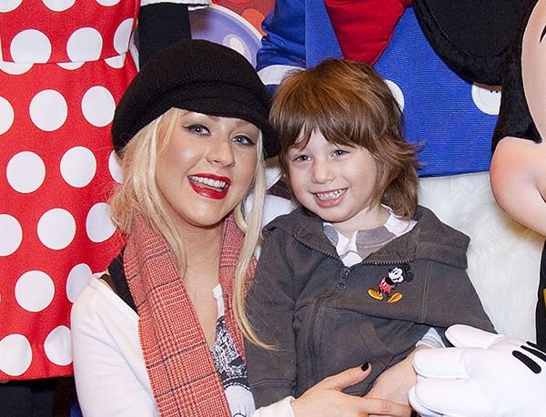 Christina Aguilera e o filho Max Liron Bratman  (Foto: Getty Images)