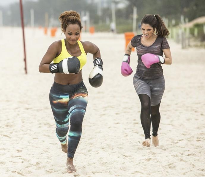 Correria para ganhar! (Foto: Raphael Dias/Gshow)