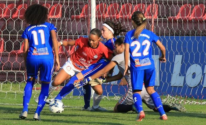 Centro Olímpico x Duque de Caxias Futebol Feminino (Foto: Elveson de Freitas/Allsports)