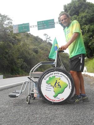 Zé do Pedal, ciclista em Minas Gerais (Foto: Divulgação)