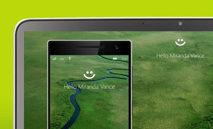 Windows Hello também estará disponível nos smartphones com Windows 10 Mobile (Foto: Divulgação / Microsoft) (Foto: Windows Hello também estará disponível nos smartphones com Windows 10 Mobile (Foto: Divulgação / Microsoft))