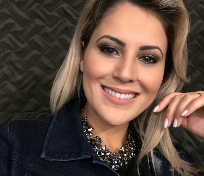 Jessica Leão nos bastidores do programa deste último sábado (12) (Foto: Reprodução / TV Diário )