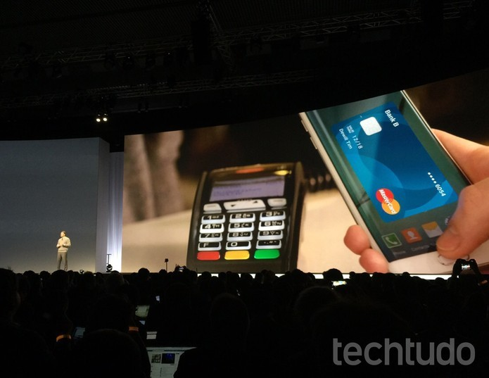 Samsung Pay foi demonstrado no mesmo evento onde o mundo conheceu o Galaxy S6 (Foto: Isadora Díaz/TechTudo)