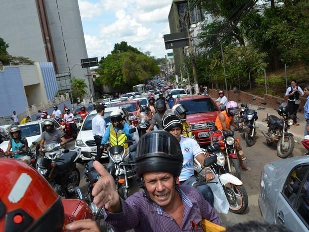 Protesto TelexFree (Foto: Tácita Muniz / G1)