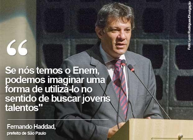 O prefeito de São Paulo, Fernando Haddad, durante congresso na USP.  (Foto: Divulgação/Leon Rodrigues/SECOM)