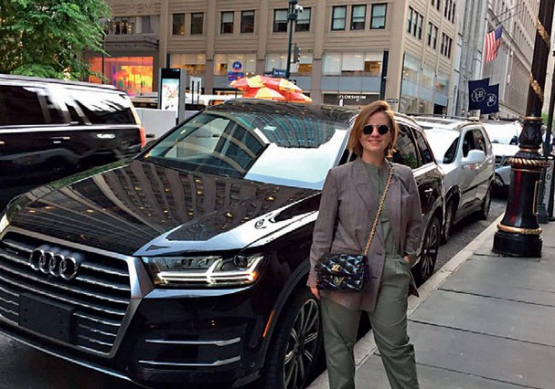 Rita Lazzarotti em NY (Foto: Divulgação)