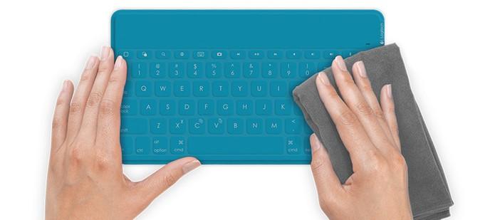 Teclado Keys-To-Go, da Logitech, é fácil de limpar e super resistente (Foto: Divulgação/Logitech)