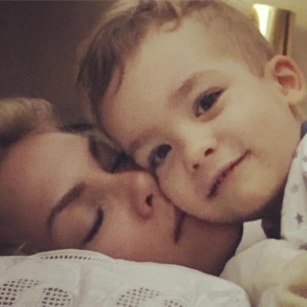 Ana Hickmann com o filho (Foto: Reprodução / Instagram)