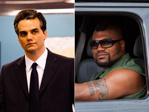 Capitão Nascimento e B.A. se enfrentam pelo seu voto no novo Corujão (Foto: Divulgação (Globo Filmes / Alexandre Lima e 20th Century Fox / Doug Curran))