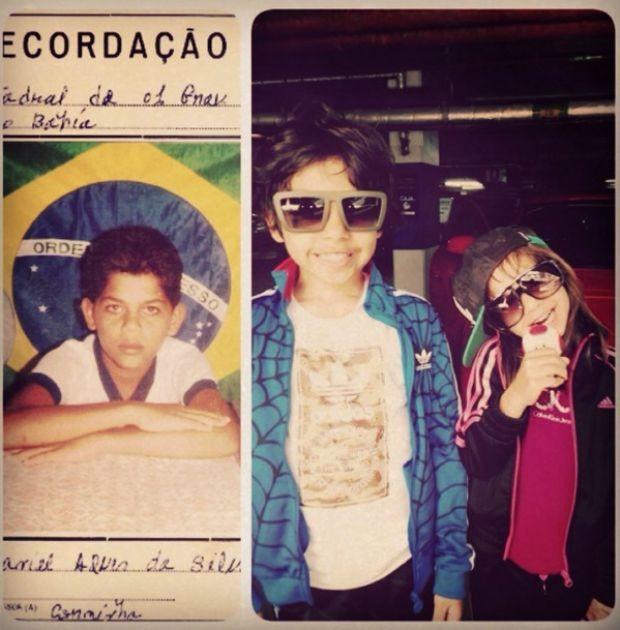Daniel Alves em homenagem ao Dia das Crianças (Foto: Reprodução/Instagram)