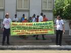 Taxistas 'alternativos' realizam protesto contra fiscalização da SMTT