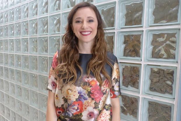 Paula Braun vai ser colega de elenco do marido, Mateus Solano (Foto: Encontro com Fátima Bernardes/ TV Globo)