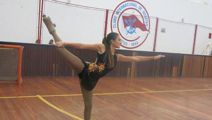 Rafaela Freitas vai à Itália e treina para mundial de patinação (Foto: Natasha Guerrize)
