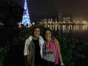 'Estou encantada', disse argentina que assistiu ao show de luzes pela primeira vez (Foto: Káthia Mello/G1)