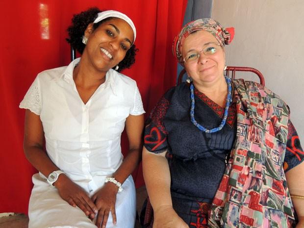 Marta Almeida, do Movimento Negro Unificado, e Mãe Elza de Yemanjá, da Caminhada dos Terreiros, são conselheiras do comitê estadual. (Foto: Anna Tiago/G1)