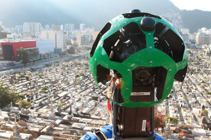 Equipamento responsável por capturar as imagens em 360 graus (Foto: Divulgação/Google)