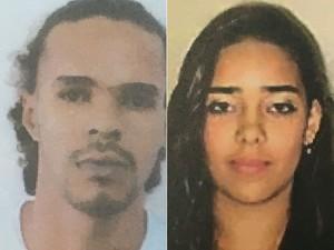 Rafael e Lorena também são procurados pela polícia por integrarem grupo de tráfico de drogas em Camaçari, Bahia (Foto: SSP-BA / Divulgação)