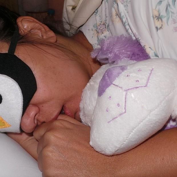 Mara Maravilha dormindo (Foto: Instagram)