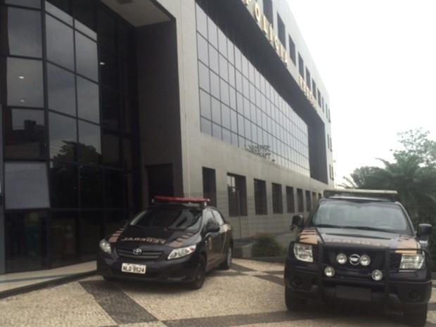Sede da Polícia Federal em Goiânia, Goiás (Foto: Fernanda Borges/ G1)