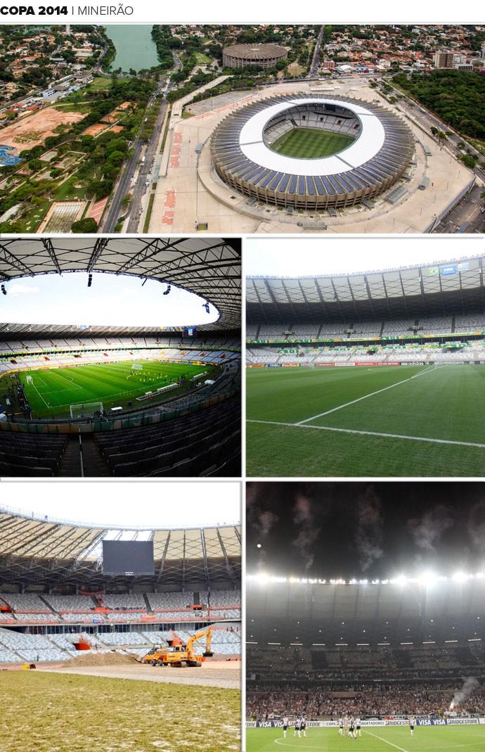 Mosaico Estádio Mineirão (Foto: Editoria de Arte)