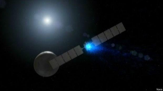 Sonda Dawn chegou ao planeta Ceres no início de março passado  (Foto: Nasa)