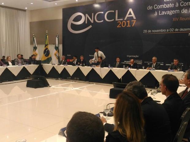 14ª Reunião Plenária da Estratégia Nacional de Combate à Corrupção e à Lavagem de Dinheiro (Enccla) terminou nesta quinta (1º) em Natal (Foto: Fernanda Zauli/G1)