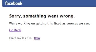 Facebook dá sinais de que está fora do ar em todo o mundo (Foto: Reprodução/Facebook)