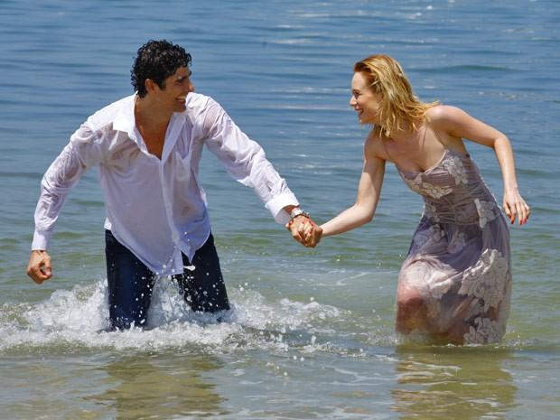Nando e Juliana vão ficar presos em uma ilha (Foto: Guerra dos Sexos / TV Globo)