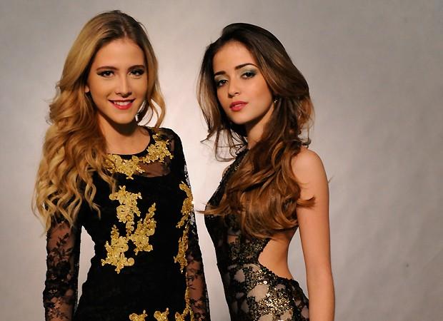 As atrizes Hanna e Anna Rita na coletiva de imprensa de Malhação 2013 ;) (Foto: TV Globo/Divulgação)