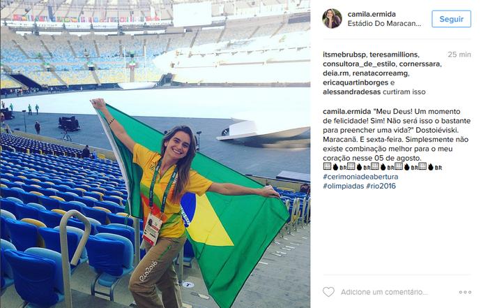 Público movimenta redes sociais com fotos do Maracanã pronto para a Cerimônia de Abertura (Foto: Reprodução)