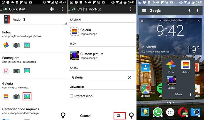 Após salvar imagem, usuário precisa apenas aplicá-la com o Awesome Icons (Foto: Reprodução/Elson de Souza)