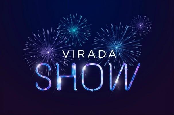 O Virada Show celebra a passagem de ano com um espetáculo de luzes no céu (Foto: Arte/TV TEM)