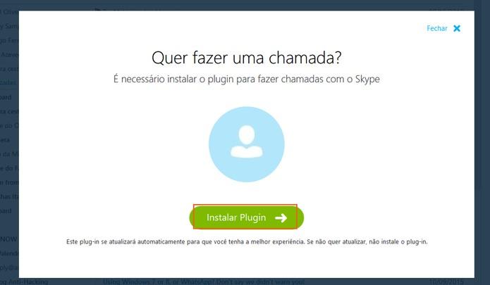 Instalando plugin para fazer chamadas no Skype para Outlook.com (Foto: Reprodução/Barbara Mannara)