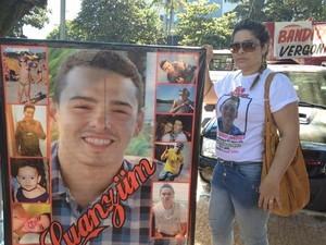 Luan Vitor foi morto por um policial durante um show na Pecuária de Goiânia (Foto: Fernanda Borges/G1)