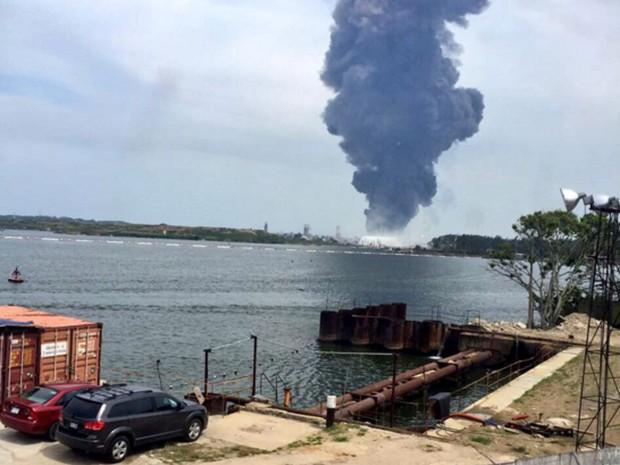 Imagem do local da explosão divulgada pela Secretaria de Segurança do Estado de Veracruz (Foto: Reprodução/Twitter/@SP_Veracruz)